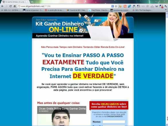 site afiliado kit ganhe dinheiro online